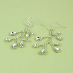 Silver Scoop Spring Earrings