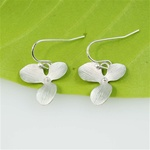 Silver Orchid Earrings