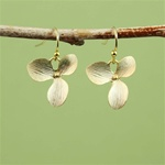 Gold Orchid Earrings