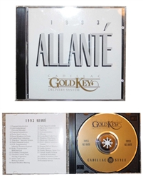 CD - Cadillac GOLD KEY CD 1993