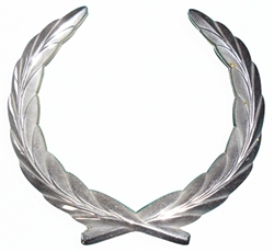 Emblem - Grill - Wreath - Chrome