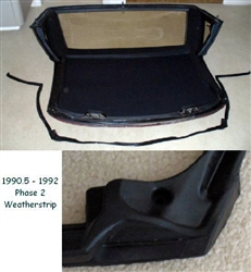 Hardtop Weatherstripping 90.5-92 - Reproduction