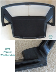 Hardtop Weatherstripping - Reproduction - 93