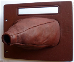 Shifter Boot Assembly-Maroon: 87-93: Rebuilt