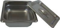 "2.5"" Firing Pan with Lid - Stainless Steel"