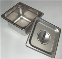 "4"" Firing Pan with Lid - Stainless Steel"