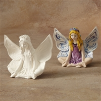 Bisque Lotus Fairy (Unpainted, ready for glaze)
