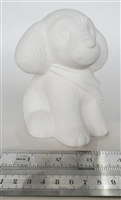 Bisque Poodle (Unpainted, ready for glaze)