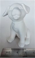 Bisque Sitting Puppy (Unpainted, ready for glaze)
