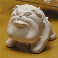 Bisque Bulldog (Unpainted, ready for glaze)