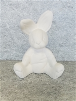 Bisque Bunny - Sitting Stuffed (Unpainted, ready for glaze)