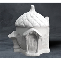 Bisque Acorn Cottage (Unpainted, ready for glaze)