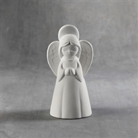 Bisque Angel Figurine (Unpainted, ready for glaze)