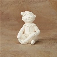 Bisque Sitting Elf (Unpainted, ready for glaze)