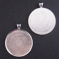 Silver X-Large 1.5in/38mm Round Bezel - 1pc