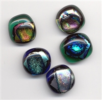Dichroic Glass Cabochon 8-12mm (1pc)