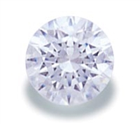 White Round Cut CZ- 5pc. 4mm