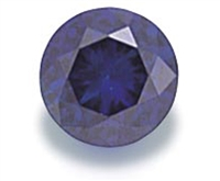 Dark Blue Round Cut CZ 4mm