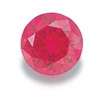 Ruby Round Cut CZ (5pc.) 5mm