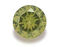 Peridot Green Round Cut CZ - 5pc. 2mm