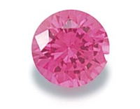 Pink Round Cut CZ- 5 pc. 2mm