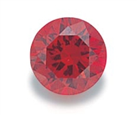 Garnet Round Cut CZ - 5 pcs. 3mm