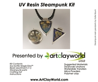 Steampunk UV Resin Pendant Kit