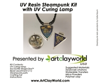 Steampunk UV Resin Pendant Kit w/ LAMP