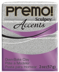 Premo Sculpey Accents  Clay - Grey Granite