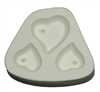 Heart Trio Holey Frit Mold