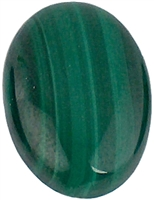 Oval Malachite cabochon (10x14mm) (1pc)