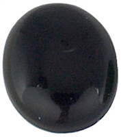Oval Onyx cabochon (8x10mm) (1pc)