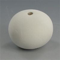Medium Round Bisque Bead 1""
