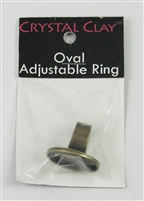 Antique Brass Oval Bezel Ring