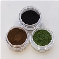 Colored Pigment Refill Kit - Set of 3: Black, Brown, Dark Green