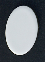 Oval Porcelain Cabochon - 19mm x 30mm - glazed on front only