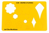 "Designer Template- Shapes & Flowers (5.5""X8"")"