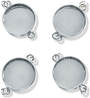 Lisa Pavelka Round Links Bezels - Silver Color