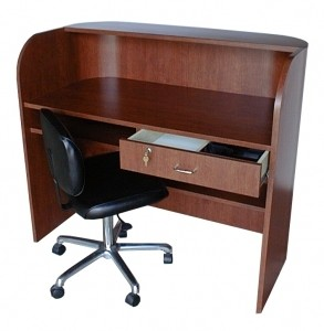 QSE DELUXE Radius Front Reception Desk