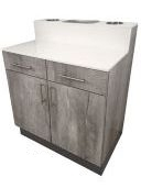 La Carte Barber Anchor Cabinet w/Drawers