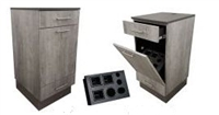 La Carte Barber Styling Cabinet with Tip-Out Tool Panel