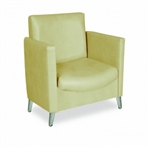 Cigno Reception Area Chair with tapered cast-aluminum legs