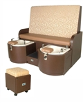 High Back Twin Pedicure Unit