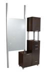 Amati Bi-Level Tall Styling Vanity
