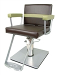 Taress Hydraulic Styling Chair with 20-20 Square Base