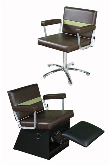 Taress Lever-Control Shampoo Chair with Kickout Legrest