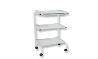 3-Shelf Trolley w/ Plastic Shelves