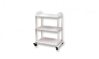 3-Shelf Trolley with Wood Shelves