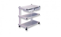 3-Shelf Metal Trolley w/ Drawers