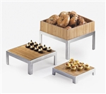 Bamboo Flat Tray & Stand 10""